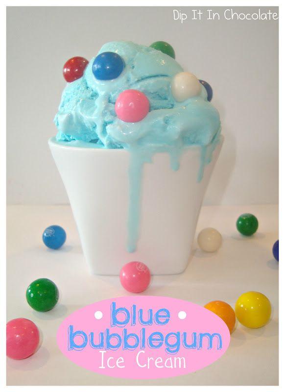 Dip it in Chocolate: Blue Bubblegum Ice Cream