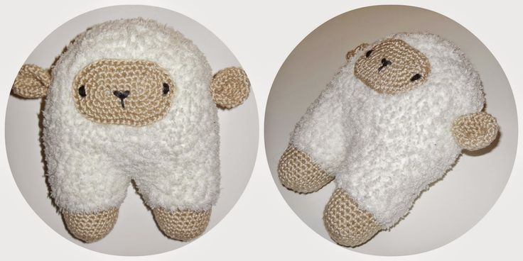 deborah haakt baby knuffeltje schaapje crochet baby toy sheep