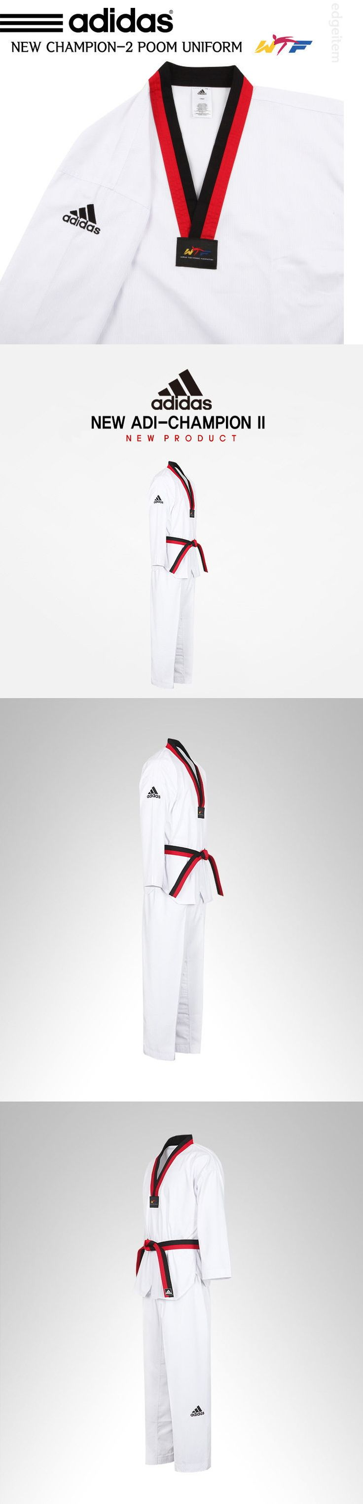 Other Combat Sport Clothing 73988: Adidas Poom Taekwondo Uniform Champion 2 Wtf Dobok Tae Kwon Do Tkd -> BUY IT NOW ONLY: $91.4 on eBay!