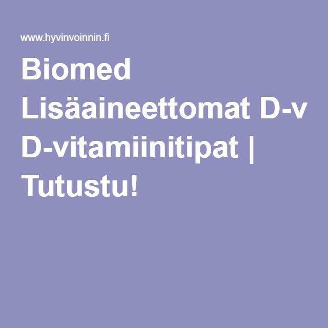 Biomed Lisäaineettomat D-vitamiinitipat. 25 mikroa per tippa (13,50€)