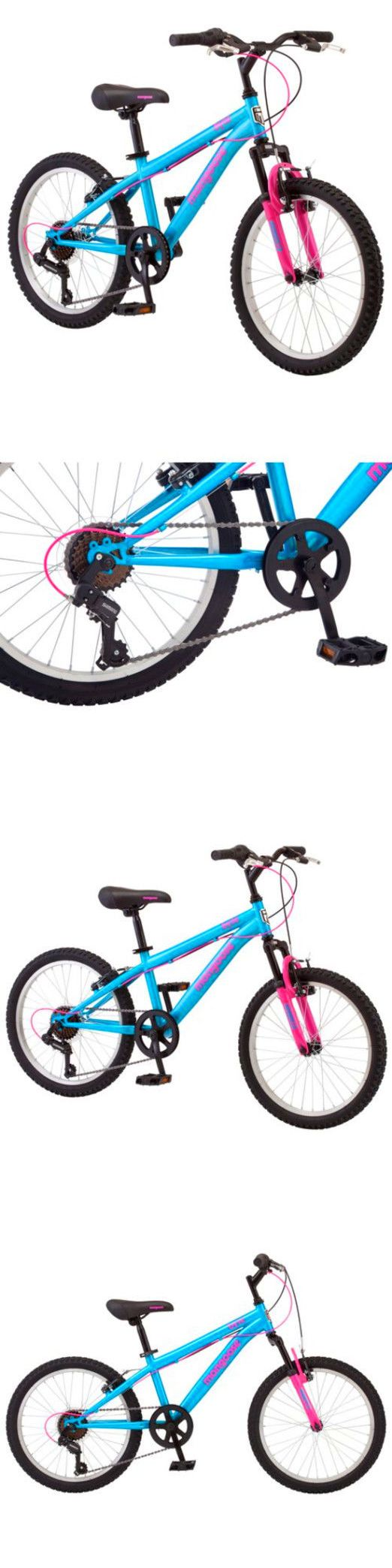 Other Cycling 2904: 20 Mongoose Byte Girls 7 Speed Suspension Mountain Bike Steel Frame Bicycle New BUY IT NOW ONLY: $136.13