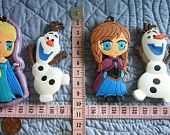 Inspired Characters Olaf Anna Elsa Food Safe Silicone Mold Fondant Gum Paste Pastillage Chocolate Candy Sugarcraft Resin Clay Plaster DIY
