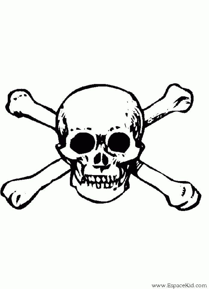 coloriage tte de mort imprimer dans les coloriages pirate et - Tte De Mort Pirate
