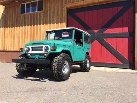 Clean title and registration in hand for this low mile, rust free, 1969 Toyota Land Cruiser FJ40 LOW 48,000 miles! NO SMOG Chevy 350 runs/ sounds AWESOME Dual glass pack side exhaust 4x4 works like a tractor 99% tread on tires. (10 miles) New suspension seats and green harnesses Led headlights Green LED lights under all 4 corners and in the chrome grill Tons of new aluminum pieces Professionally painted bedliner inside and out...!  Only trades would be 4x4 tractor, Dyna, fxr, Cummins w&#...