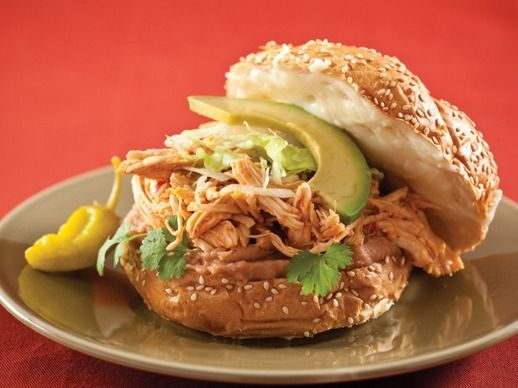 smile on your face chile marinated pork sandwiches on cemita rolls ...