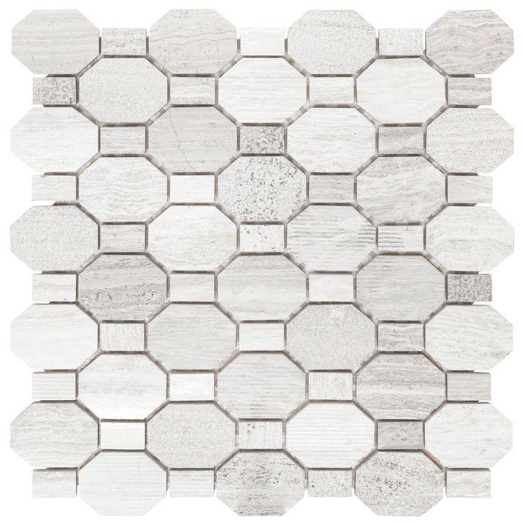 Crisp Illusion 12 Inch x 12 Inch x .31 Inch Marble Mosaic Wall Tile