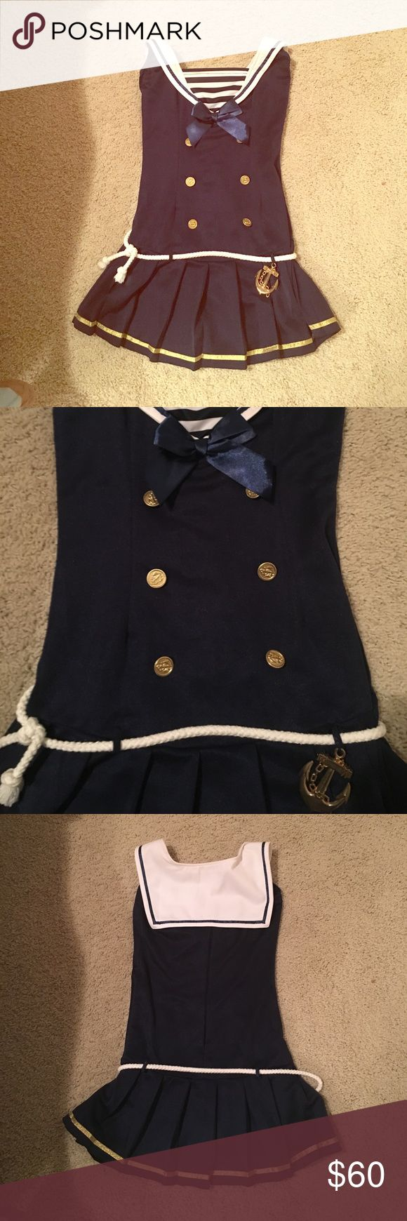 Sailor Halloween costume- Excellent condition! Worn once, size small. Bundle for more discounts 😊 Dresses