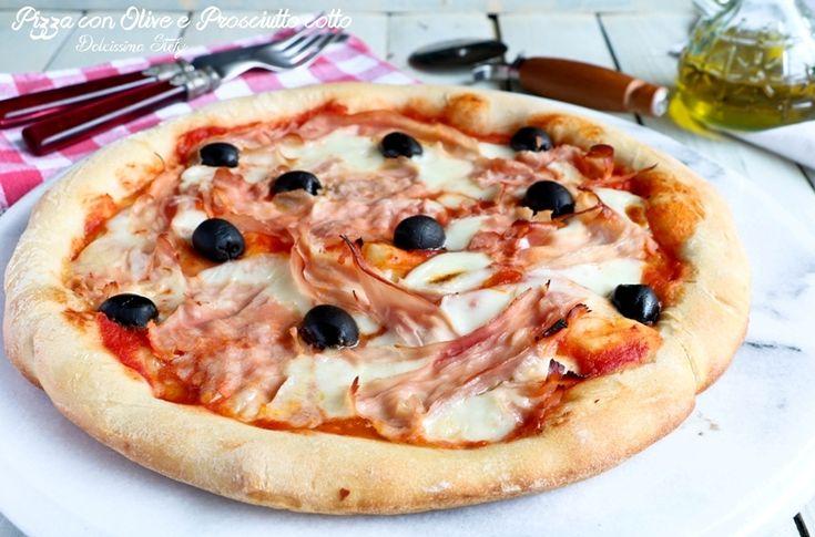 Pizza+con+Prosciutto+cotto+e+Olive