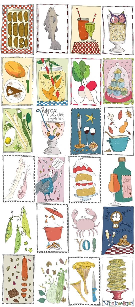 lovely food illustrations by yvette van boven
