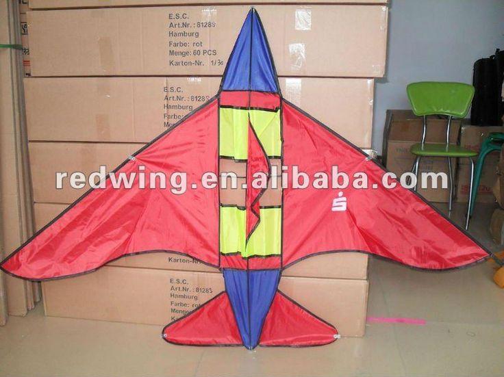 Red Promotion Power Plane Shaped Kite ,DIY Kite $0.5~$5.2