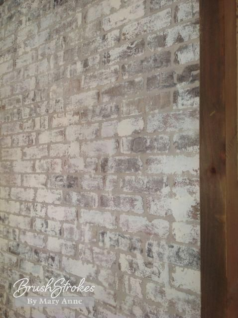 How to paint bricks with Old White Chalk Paint® from Mary Anne Merfeld, Visit BrushStrokes By Mary Anne, Cumming, GA. 770-366-5990