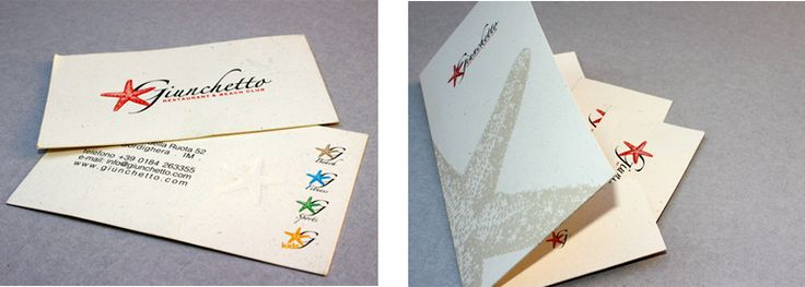 Giunchetto restaurant & beach club - business cards  by CREA OFFICINA