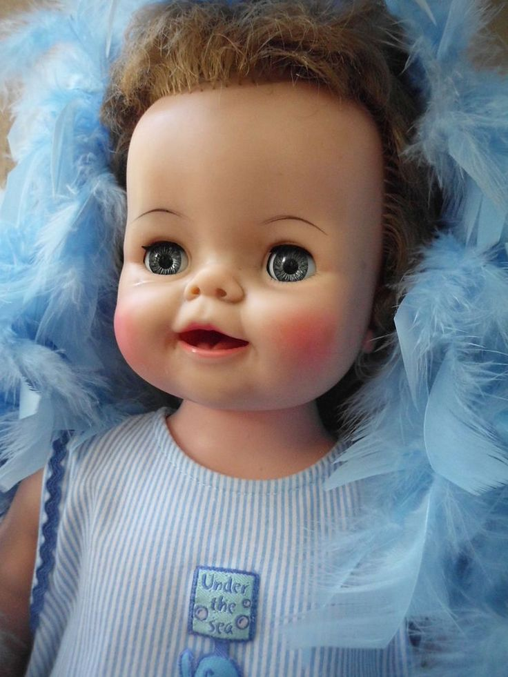 """ADORABLE VINTAGE IDEAL BIBSY DOLL PLAYPAL SIZE 24"""" VINYL AND JOINTED BIG DOLL"""