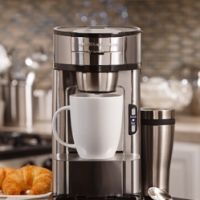 No more K-Cups!  A more environmentally friendly single serve coffee solution.  Scoop!  The Scoop® Single-Cup Coffee Maker | One Cup Coffee Maker | Hamilton Beach