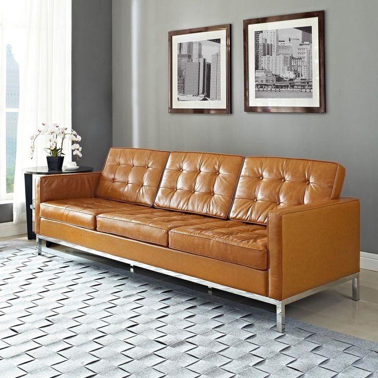 Add Chic And Modern Design Into Your Room With This Modway Loft Leather Sofa