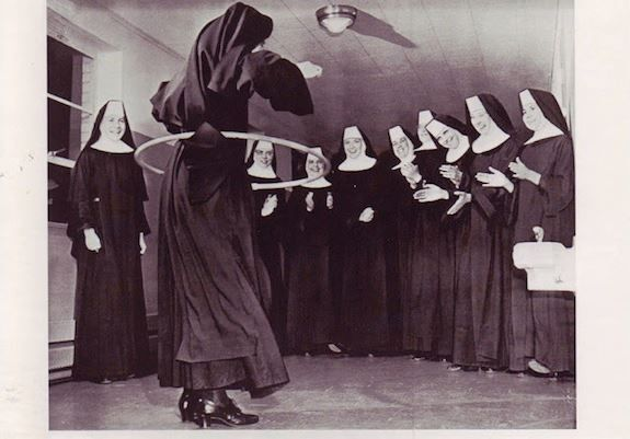 hula-hooping Nuns , 1958 If only more people in the church would just hula-hoop and have fun.