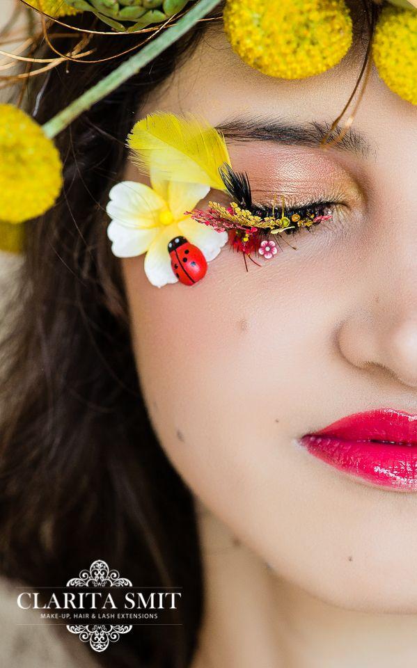 Spring inspired lashart and make-up by Clarita Smit www.claritasmit.co.za