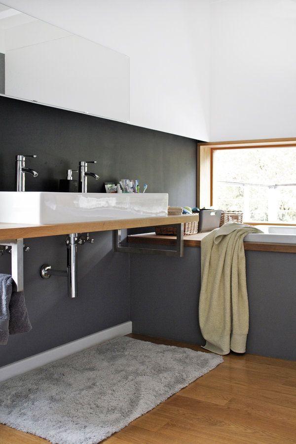 Badezimmer The Dark White Side Wohnung Renovierung Badezimmer Schwarz Badezimmer Holzboden