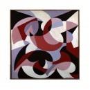 """Giacomo Balla """"Motivo con la parola TAC"""" olio su tela, 1929 ca."""