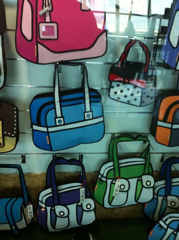 Comic Bags, seen at Palma de Mallorca airport at superkunk  http://www.superskunk.es/