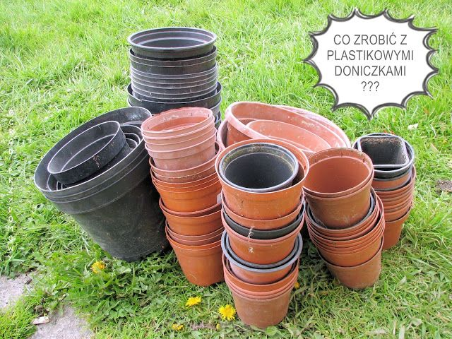 What to do with plastic pots? Ogród przydomowy, Home garden