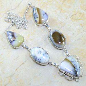 #magic#natural#merlinite#in#dendritic#opal#necklace#christmas#gift#