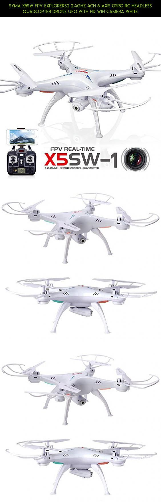 Syma X5SW FPV Explorers2 2.4Ghz 4CH 6-Axis Gyro RC Headless Quadcopter Drone UFO with HD Wifi Camera White #control #parts #wi-fi #gadgets #with #quadcopter #kit #syma #racing #remote #2.4g #camera #technology #plans #drone #products #fpv #tech #x5sw #camera #shopping