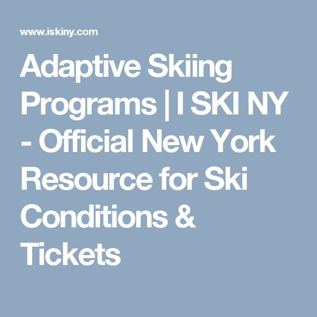 Adaptive Skiing Programs | I SKI NY - Official New York Resource for Ski Conditions & Tickets