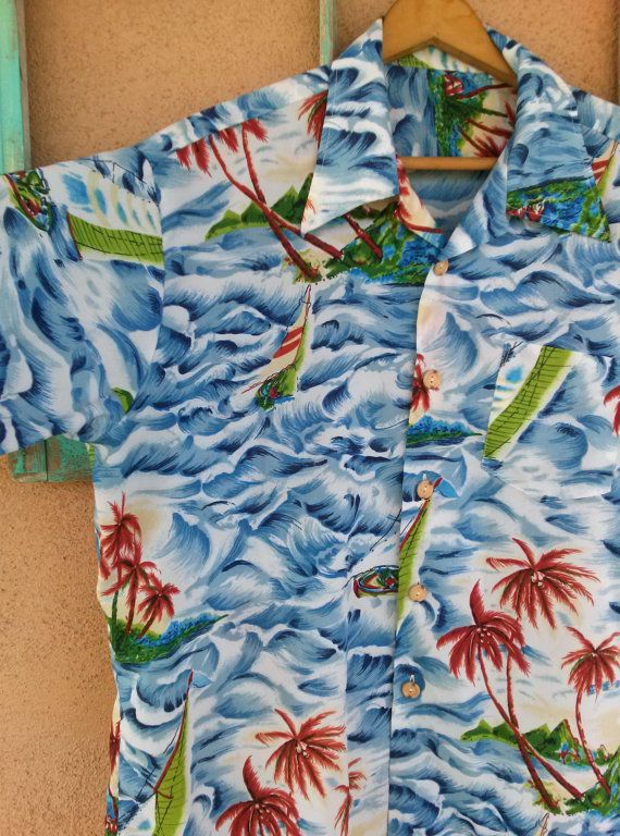 Check out this item in my Etsy shop https://www.etsy.com/listing/268780096/vintage-1980s-hawaiian-shirt-tiki-70s