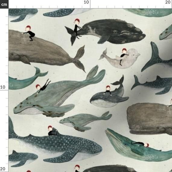 Whale Rider Fabric The Whale Rider Small By Katherine Quinn