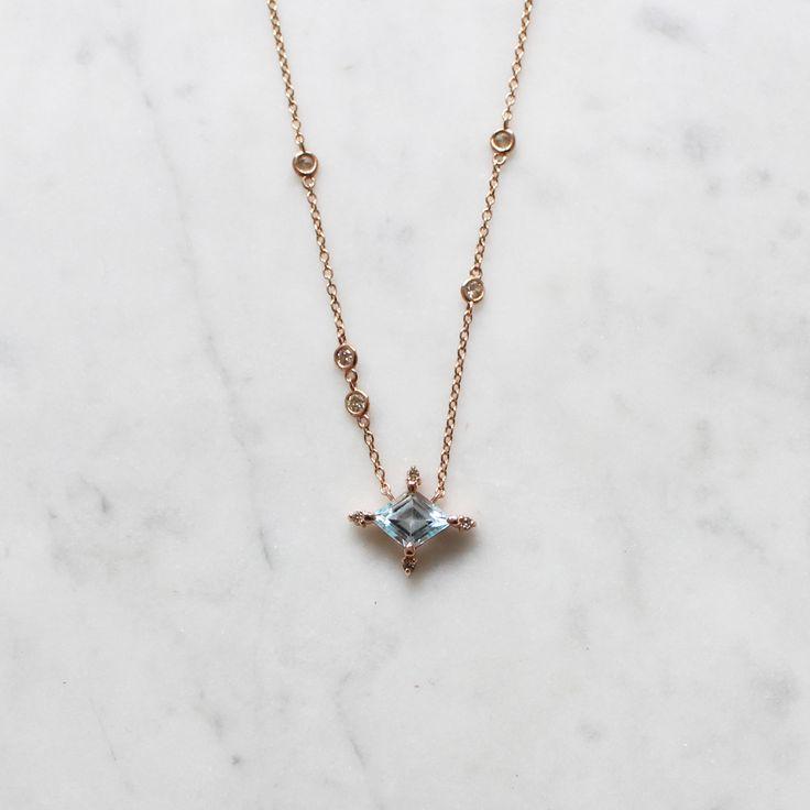 Winter Forest Blue Topaz Necklace / vasa new york