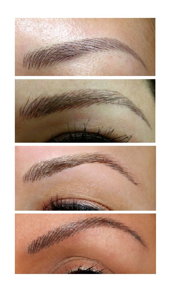 Feather Touch eyebrow tattoos.
