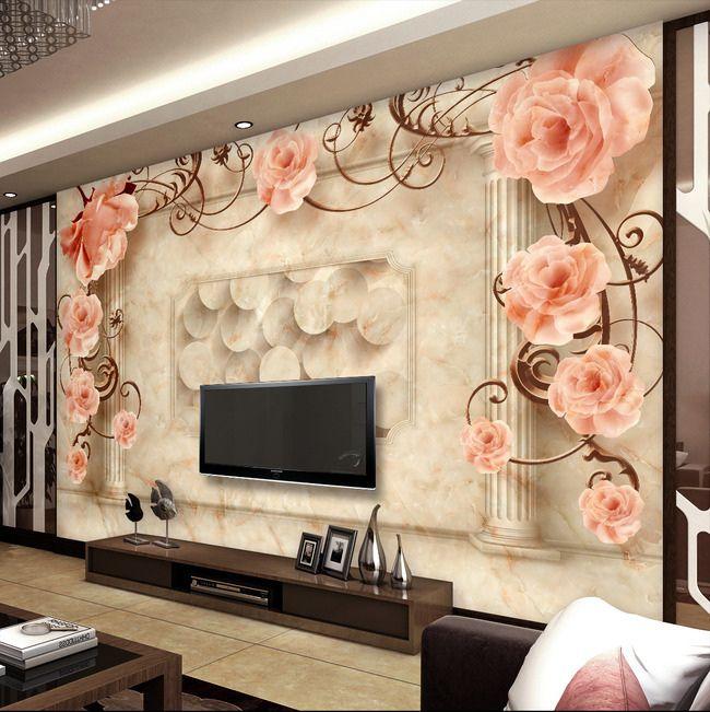 Murah Kertas Kontak, Kustom Foto Wallpaper 3D Dari Kertas
