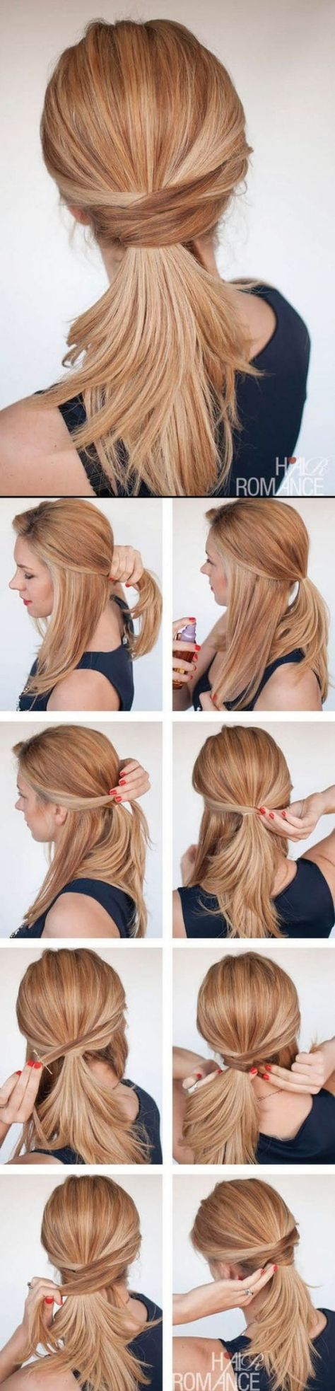 I think I can make this in 30 secs, what do you say? ||| 60 Simple Five Minute Hairstyles for Office Women (Complete Tutorials)