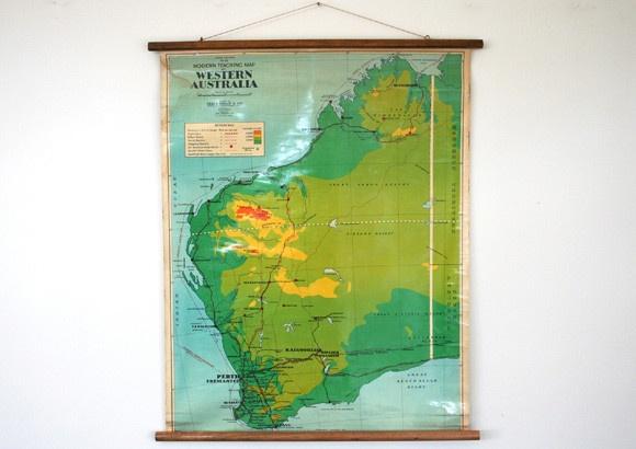 Vintage Map of Western Australia