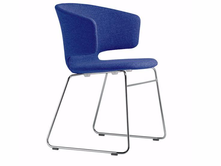 Sled base chair with armrests TAORMINA CHAIR - 504 Taormina Tindari Collection by Alias design Alfredo Häberli