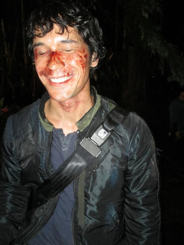 Bob Morley || The 100 cast behind the scenes || Bellamy Blake || The 100 season 1 episode 8 - Day Trip