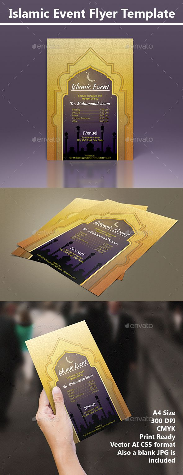 #Islamic Event Golden Flyer - Miscellaneous Events