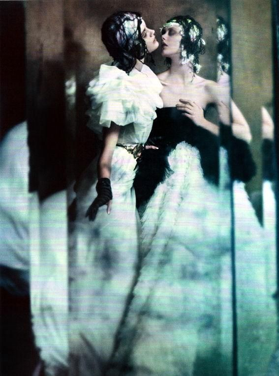 Jac Jagaciak and Frida Gustavsson by Paolo Roversi for Vogue Italia