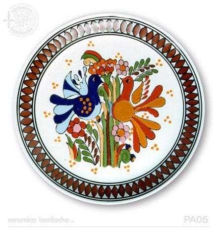 Platos decorativos Mayólica | Ceramica Bariloche: