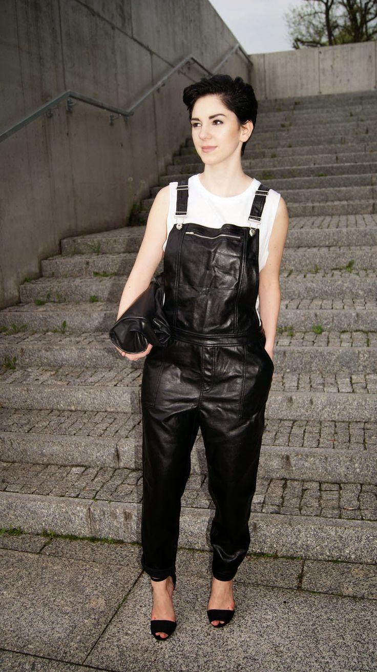 LEATHER DUNGAREE - Mesmerize Fashion