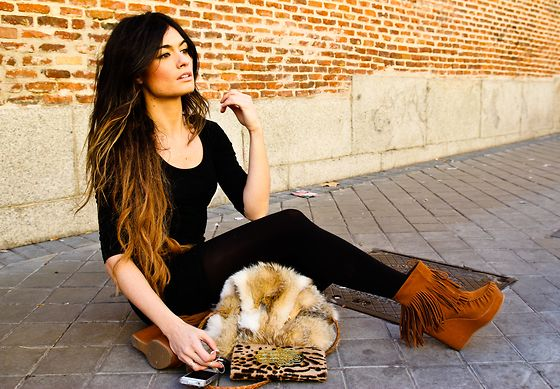 hairShoes, Dips Dyes Hair, Hair Colors, Fashion, Style, Ombre Hair, Fringes Boots, Long Hair, Outfit