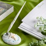 Wedding Favors & Party Supplies - Favors and Flowers :: Wedding Essentials :: Guest Books, Pen Sets & Signature Frames :: Beach Themed Wedding Pen And Holder Set