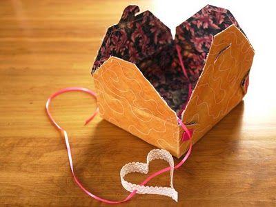 Fabric gift box DIY