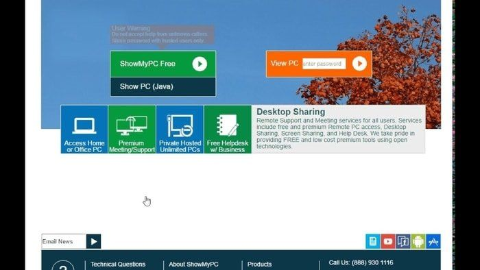 Show My Pc Web Conferencing Tech Updates Web Application