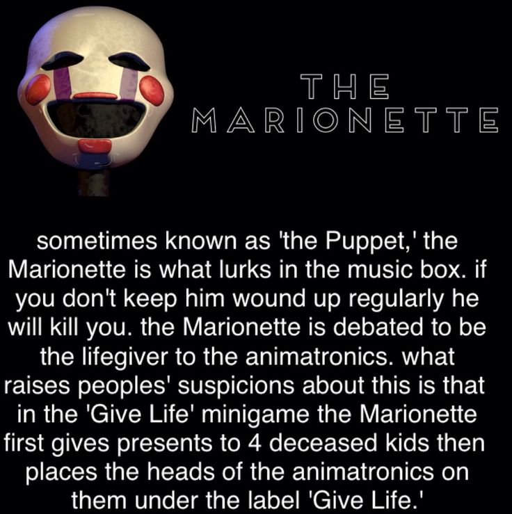 marionette | Five Nights At Freddy's | Pinterest | Puppets ...