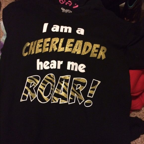 Cheerleading tshirt I got this online and have just never wore it!! Basically new and the sparkles are in tact Tops Tees - Short Sleeve