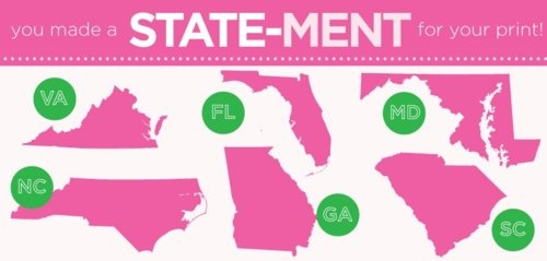YAY! Love all these states! The MD murphy for mom, I'll be in need of the SC one, the FL for Big... perfection.Lilly Prints, Lilly Pulitzer, Prints Winner, South, Maryland Lilly'S 3, Lilly Life, States Prints, Lilly States, Srat Life