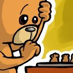Teddy bear chessplayer avatar