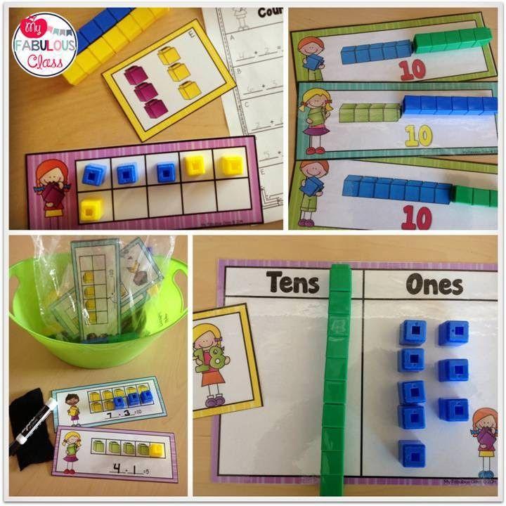 Unifix Math Centers- Morning Work Buckets
